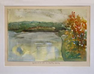 Lyshør skisse, fra en regntung høstdag - Sketch with Ligth, at a Grey Autumn Day