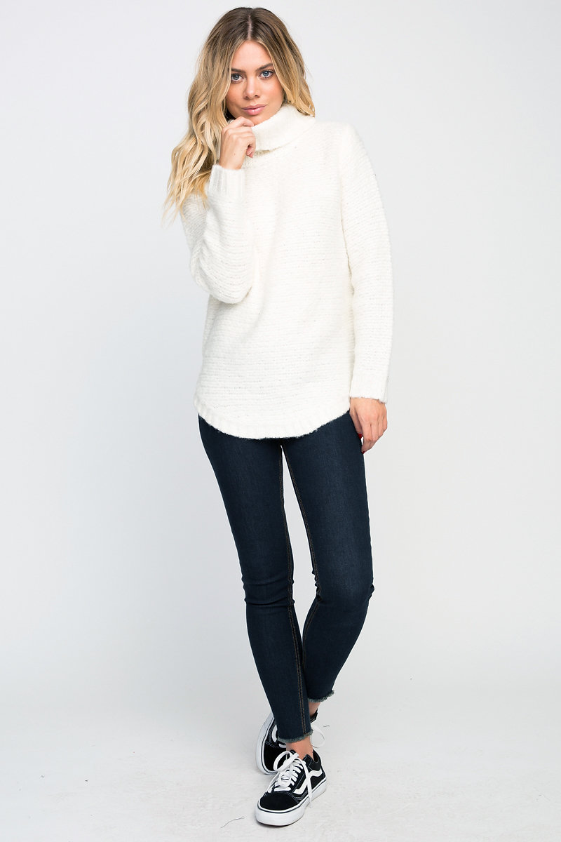 Coast on Carolina | KINKS COWL NECK TUNIC SWEATER