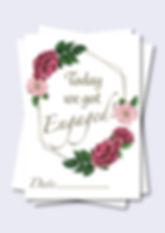 Rose Wreath Wedding Milestone Cards