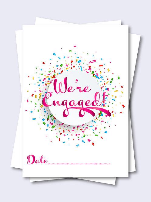 Pink Celebration Confetti Wedding Milestone Card
