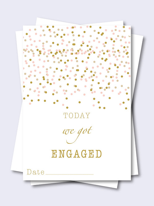 Confetti Shower Wedding Milestone Card