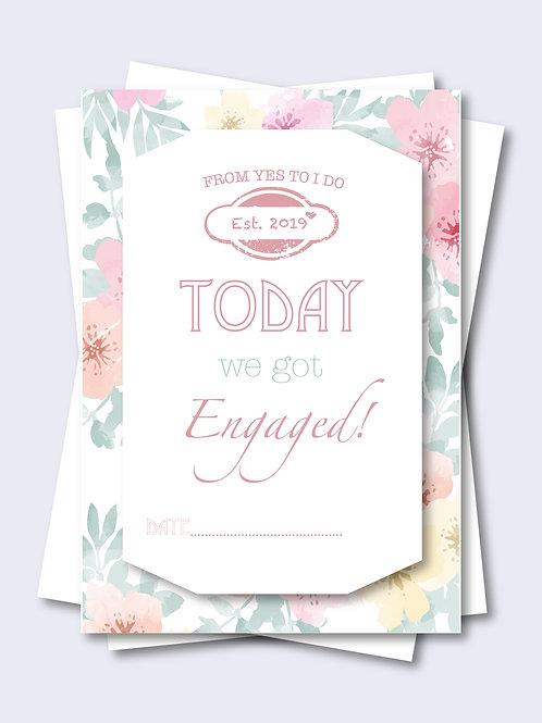 Floral Wedding Milestone Card