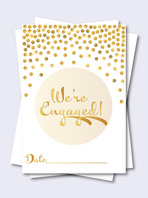 Golden Celebration Confetti Wedding Milestone Card