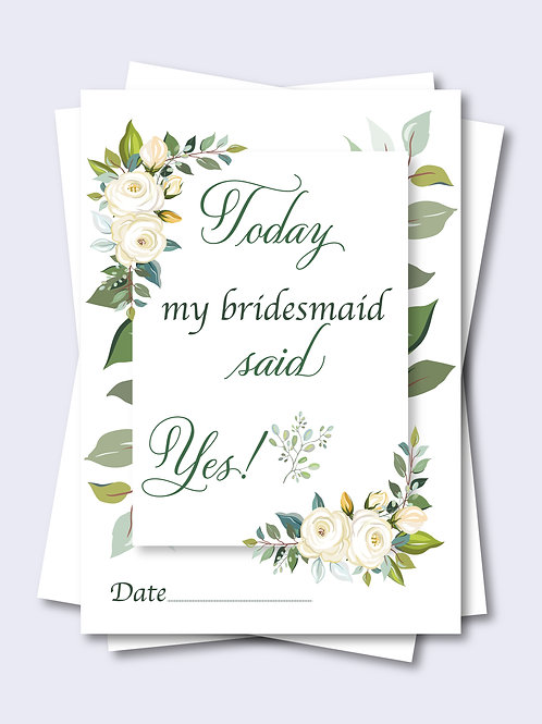 Rose Border Floral Wedding Milestone Card