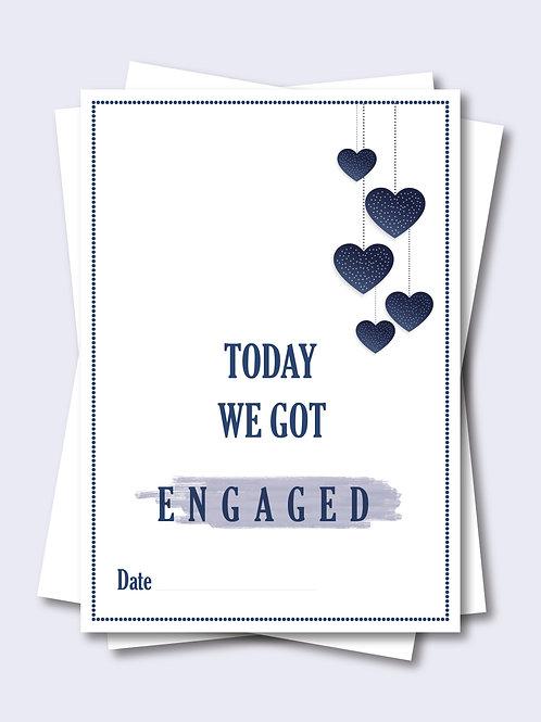 Sparkling Love Heart Wedding Milestone Card