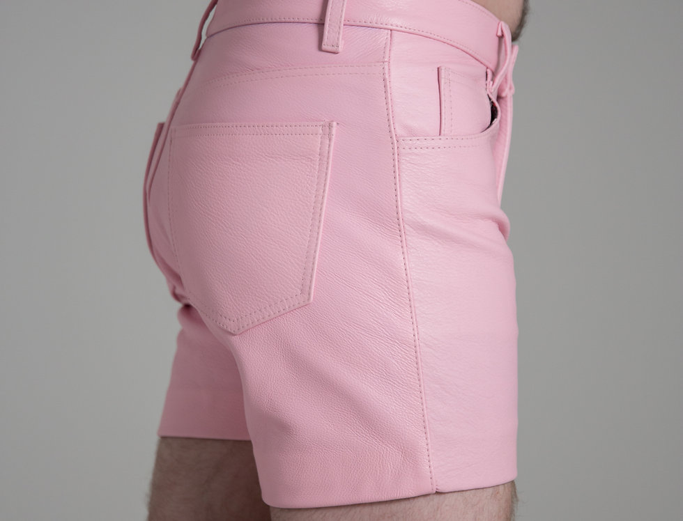 LEATHER PINK SHORT