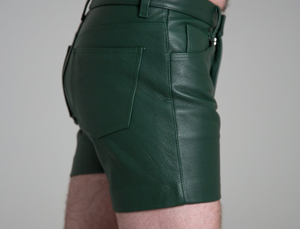 LEATHER GREEN FOREST SHORT