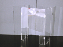 RKY-04 三面アクリルパーテーション(窓付)