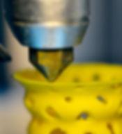 Żółty Kształt 3D Printed