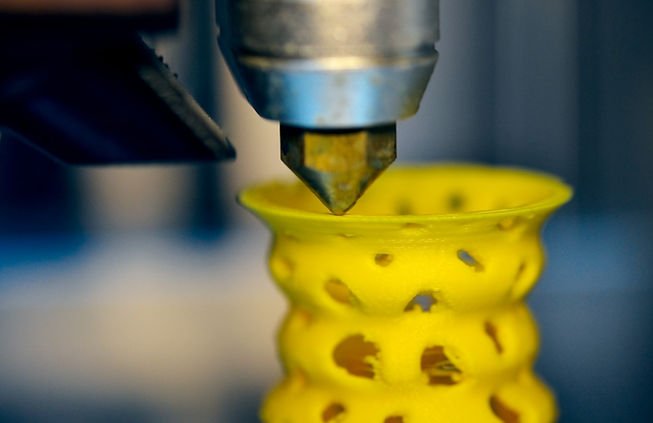 Yellow 3D Printed Shape
