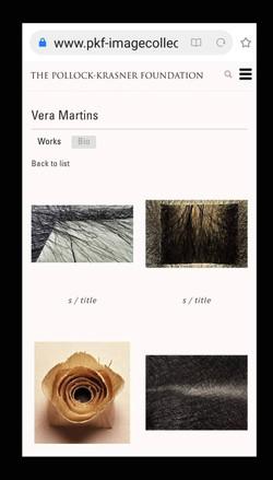 Site: Fundação Pollock Krasner