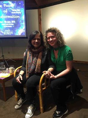Anita Moorjani at Omega Retreat with Cheryl Ramsay