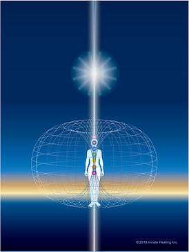 HelioSol picture representing whitle light entering from universal consciouness into the breathing tube to facilitate healing