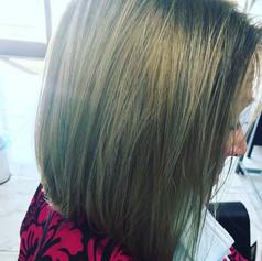 hair cut and highlights