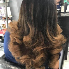 Highlight and blowdry