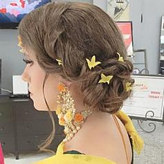Bridal makeup and hair updo