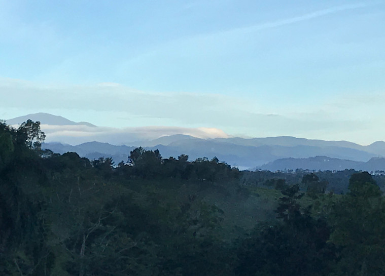 Morning mist over mountains