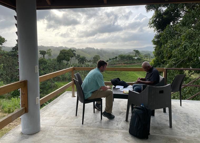 Adam and Rafael at work