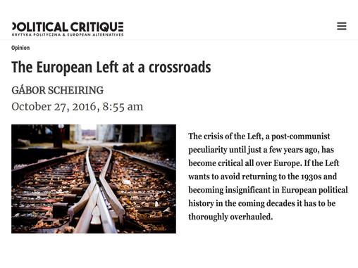 The European Left at a crossroads