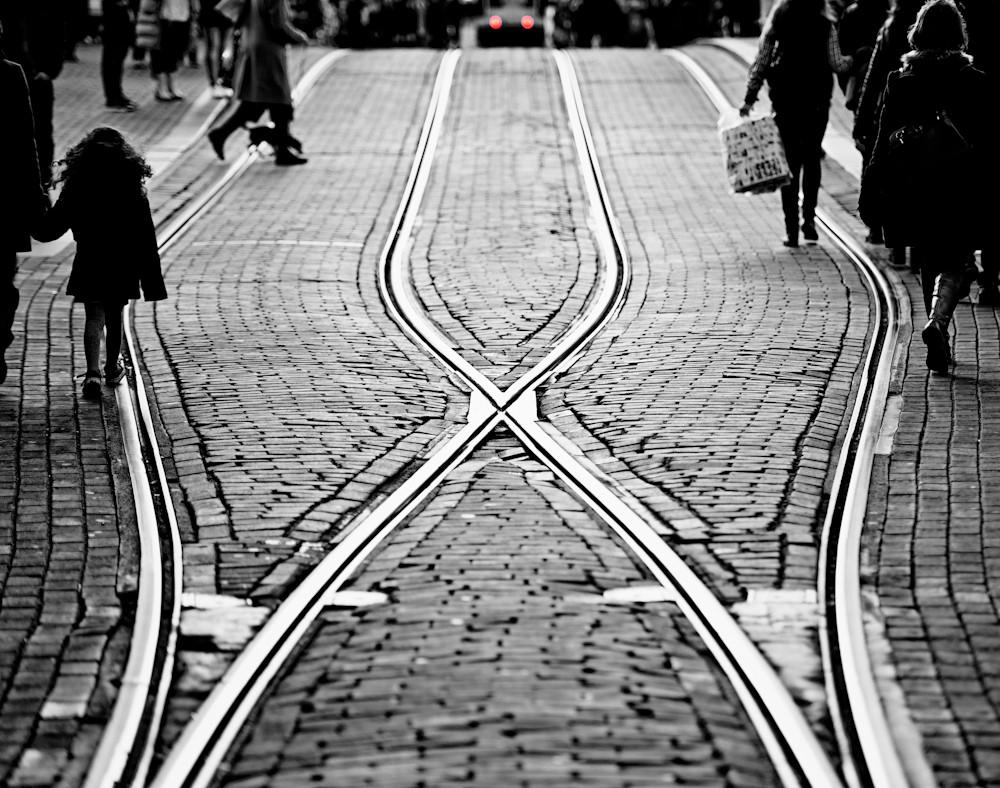 Tramline crossroads.