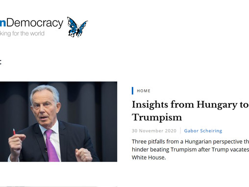 Insights from Hungary to beat Trumpism