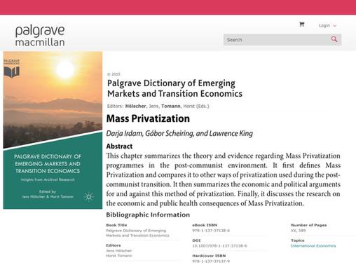 Mass Privatization
