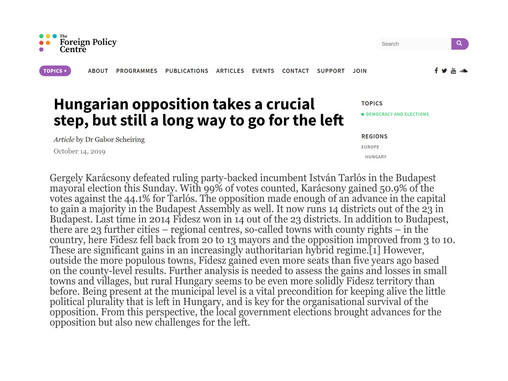 Hungarian opposition takes a crucial step, but still a long way to go for the left