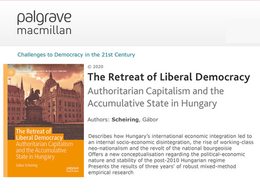 Book out: The Retreat of Liberal Democracy