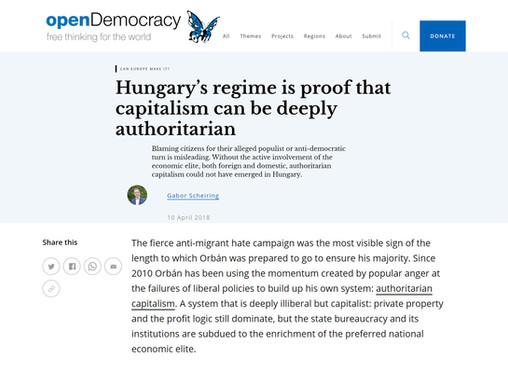 Hungary's regime is proof that capitalism can be deeply authoritarian