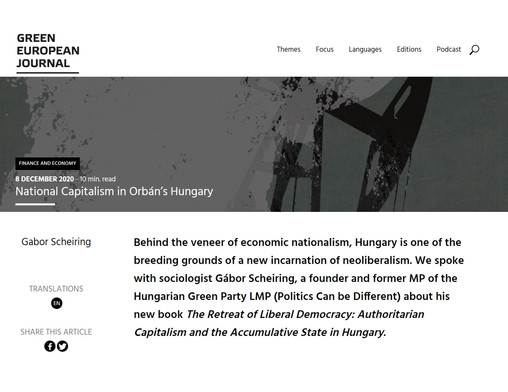National Capitalism in Orbán's Hungary (Interview)