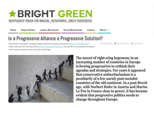 Is a Progressive Alliance a Progressive Solution?
