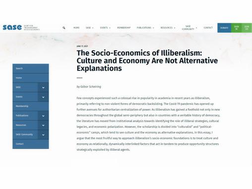 The Socio-Economics of Illiberalism