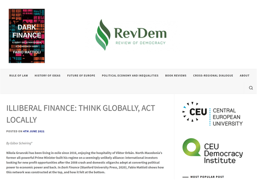 Illiberal Finance: Think Globally, Act Locally