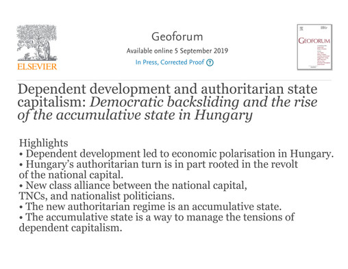 Dependent development and authoritarian state capitalism