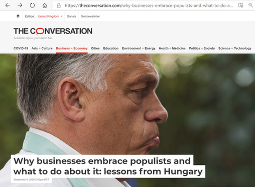Why businesses embrace populists and what to do about it: lessons from Hungary