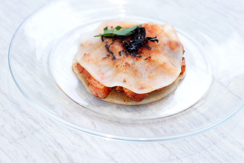 Smoked Harissa Salmon with Togarashi
