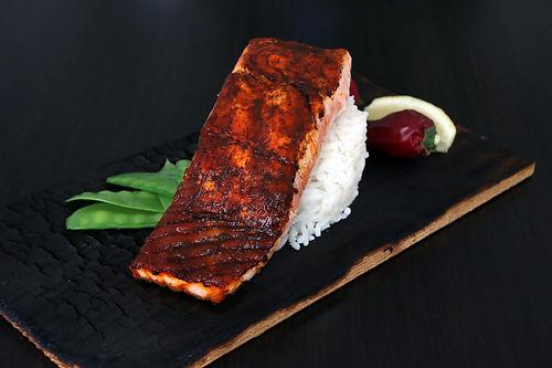Harissa Cedar Plank Salmon