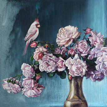 Cardinal's roses