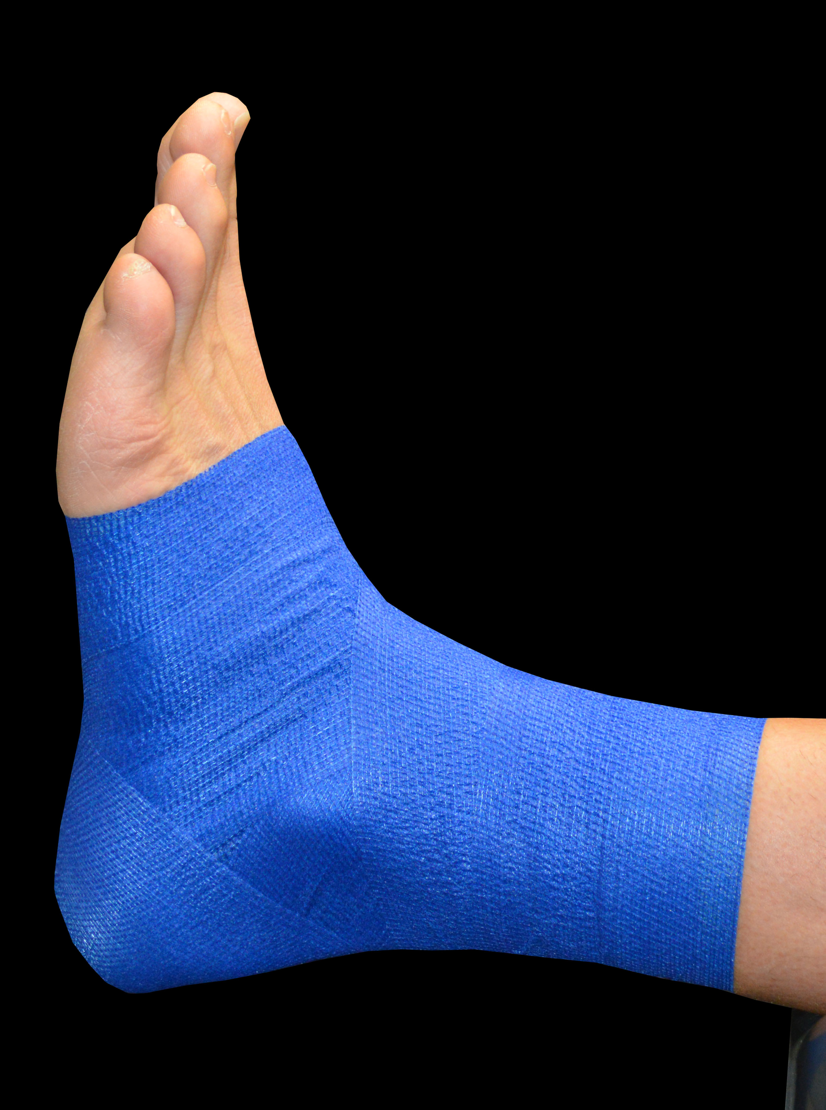 STEP 1 blue ankle taped