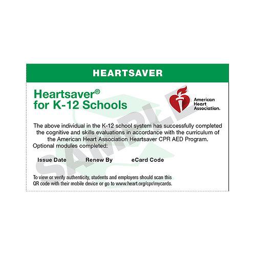 HeartSaver K-12 School Ecards