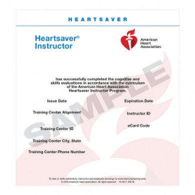 AHA Heartsaver Instructor E-Card