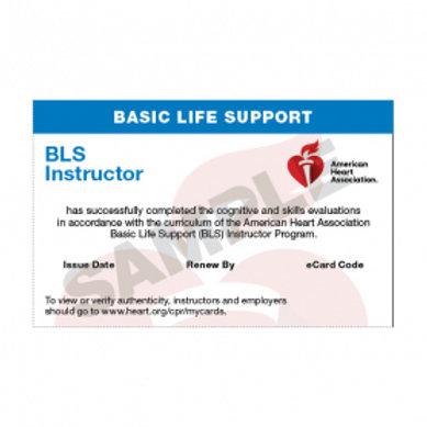 AHA BLS Instructor E-Card