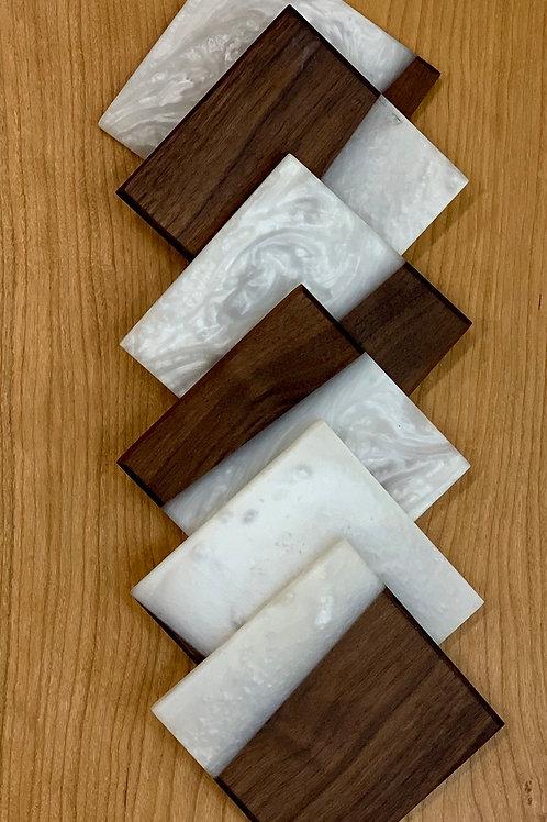 Wood and Epoxy Coasters