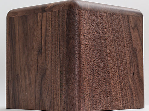 THE PEAKS Solid Walnut Round Memorial with Natural Finish