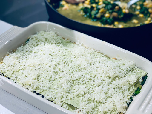 Red Lentil and Spinach Lasagne