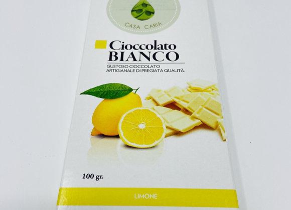 Weisse Schokolade Zitrone Caria 100g