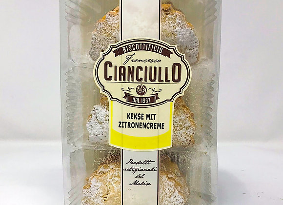 Kekse Ciaciullo mit Zitronencreme