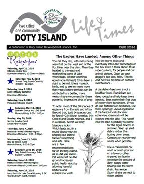 Doty Island Newsletter (April 2018)