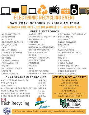 Saturday's Recycling Event