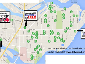Official Map for Saturday's Sales!